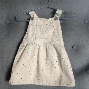 Baby Zara little girls polka dot overall dress